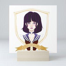Fight Like a Girl - Sailor Saturn Mini Art Print