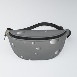 Glowing drops and petals on a gray background in nacre. Fanny Pack