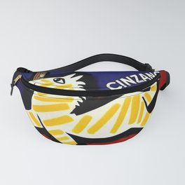 Vintage Cinzano Italian Yellow Zebra Advertisement Wall Art Fanny Pack