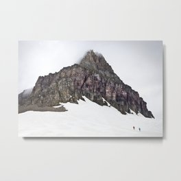 Mountain in Glacier Metal Print