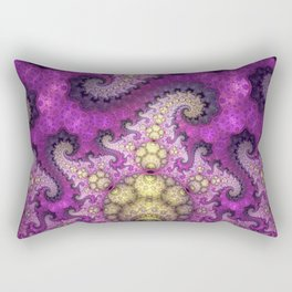 Dragon spirals and orbs in pink, purple and yellow Rectangular Pillow