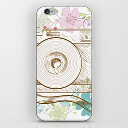 Camera retro flower iPhone Skin