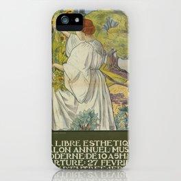 Vintage poster - La Libre Esthetique iPhone Case