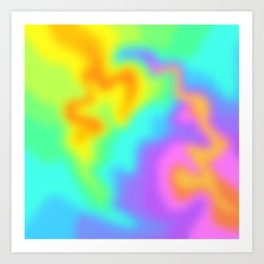 Bright Rainbow Wiggly Gradient (Lightning Style!) Art Print