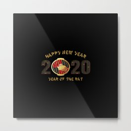 happy new year 2020 year of the rat 4 Metal Print