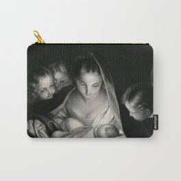 The Nativity, Virgin Mary with Infant Jesus surrounded by Angels Carry-All Pouch
