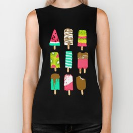 Ice Cream Time Biker Tank