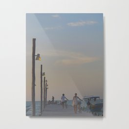 Holbox dock Metal Print