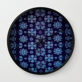 Floral Fabric Vintage Gift Pattern #5 Wall Clock