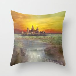Temple Station Throw Pillow