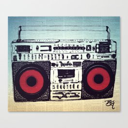 OLD SCHOOL BOOMBOX Canvas Print