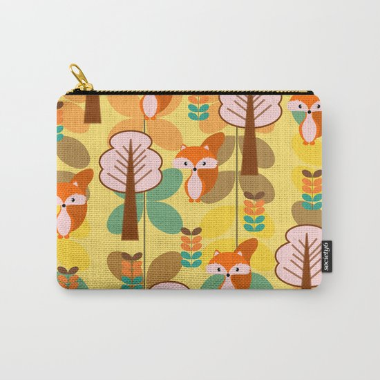 Foxes in the forest Carry-All Pouch