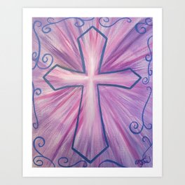 Purple Radiance Art Print