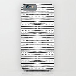 B&W Shibori iPhone Case