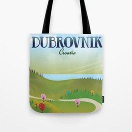 Dubrovnik Croatia travel poster Tote Bag