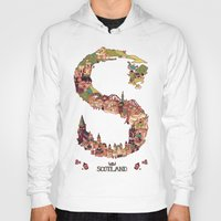 scotland Hoodies featuring S is for Scotland by Kelly Chilton
