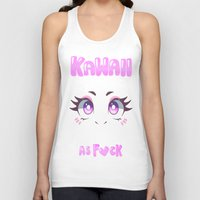 kawaii Tank Tops featuring KAWAII by s3tok41b4