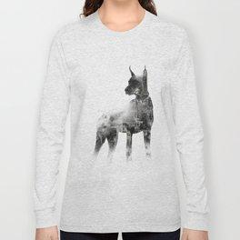 Doberman Pinscher NYC Skyline Long Sleeve T-shirt