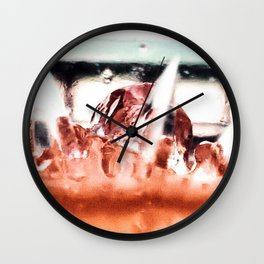 melting ice in a glass Wall Clock
