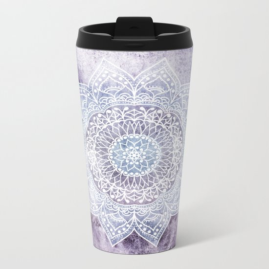DEEP PURPLE MANDALA Metal Travel Mug