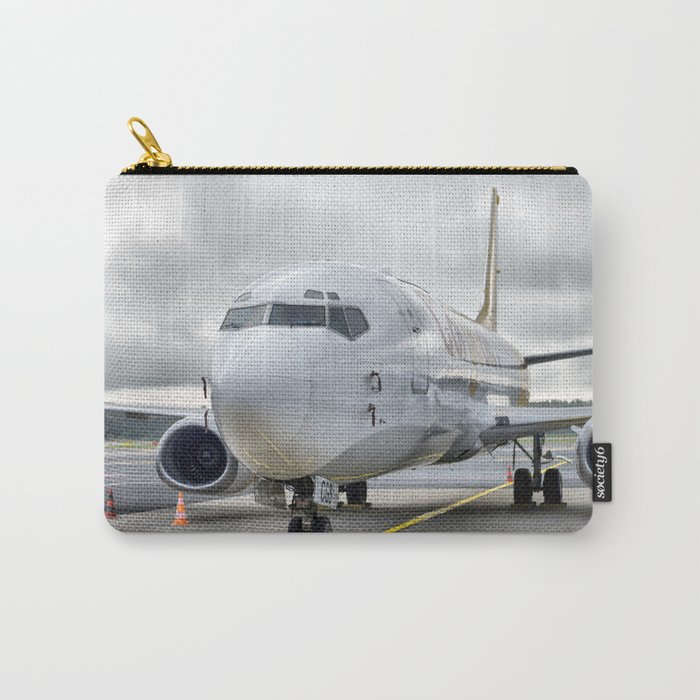 The plane at the airport on road Carry-All Pouch