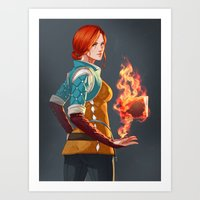 Witcher 3: Triss Art Print