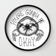 Slothspiration Wall Clock