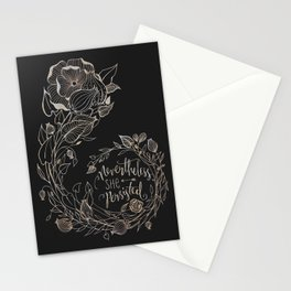 Nevertheless She Persisted Gold Stationery Cards