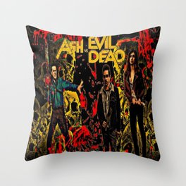 Ash Faces Many Evils Throw Pillow