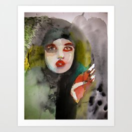 Hearts Attack Dangerous Minds and Cactus Art Print