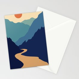Mountains & River II Stationery Cards