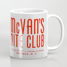 McVan's Nite Club in Red Coffee Mug