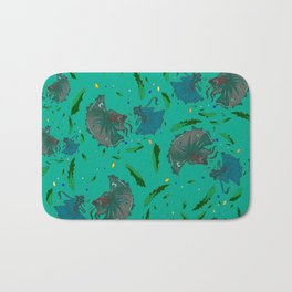 Angry Little Fish Pattern Bath Mat