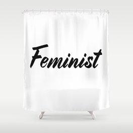 Feminist (on white) Shower Curtain