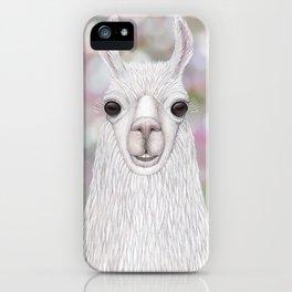 Llama farm animal portrait iPhone Case