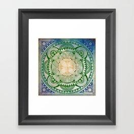 Metta Mandala, Loving Kindness Meditation Framed Art Print