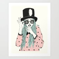 hat Art Prints featuring  ''Hat'' by Indi Maverick