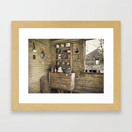 Old kitchen in Louisiana Framed Art Print
