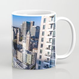 Downtown Seattle, Birds Eye View 1 Coffee Mug