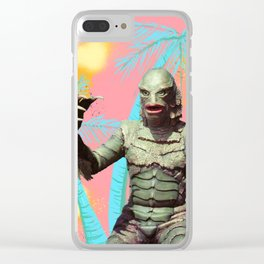 Creature of the pastel lagoon Clear iPhone Case
