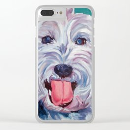 The Westie Kirby Dog Portrait Clear iPhone Case