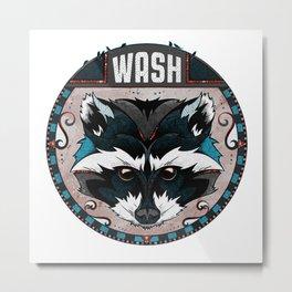 Wash Metal Print