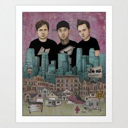 Blink 182 - Neighborhoods Art Print