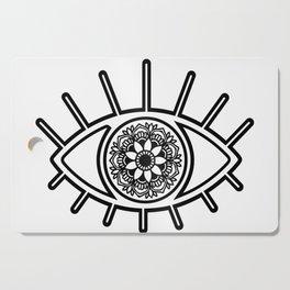 Mandala Evil Eye Cutting Board