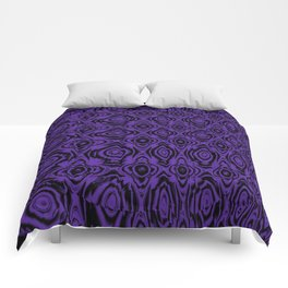 Abstract Purple Floral Comforters