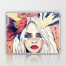 WARRIOR GIRL PAINTING Laptop & iPad Skin