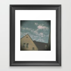 When it rains on sunday and you are alone Framed Art Print