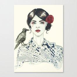 Rose's Raven Canvas Print