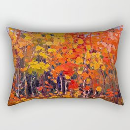 Tom Thomson - Autmn Wood - Canada, Canadian Oil Painting - Group of Seven Rectangular Pillow