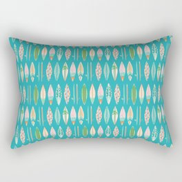 Surf Boards on Bright Blue Rectangular Pillow